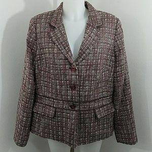 Sag Harbor Tweed Jacket Blazer